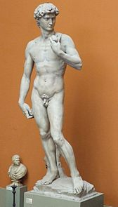 Cast of Michelangelos David, presented to the Queen by the Duke of Tuscany in 1857.