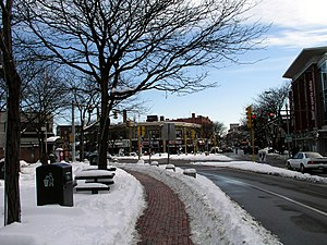 Davis Square - Davis Square in winter