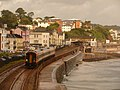 Dawlish, train passing the seafront - geograph.org.uk - 1469007.jpg