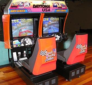 <i>Daytona USA</i> (video game) 1993 racing video game by Sega