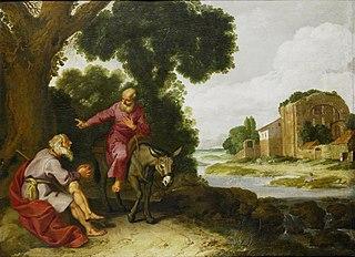 Le vieux prophète de Bethel rencontre l'homme de Dieu originaire de Judée