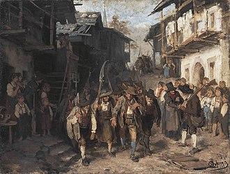 Franz Defregger - Image: Defregger Das letzte Aufgebot