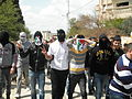 Demonstrators against road block, Kafr Qaddum, March 2012.JPG