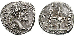Legio I Italica - Denarius issued in 193 by Septimius Severus, to celebrate I Italica, which supported the commander of the Pannonian legions in his fight for the purple.
