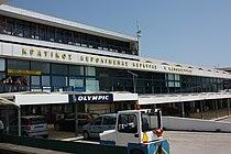 Der Flughafen Korfu vom Vorfeld aus Ankunftsbereich.JPG