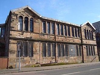 Broomloan Road Primary School - The original 1875 Broomloan Road School building designed by Alexander Watt