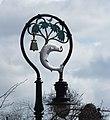 Detail of street-lamp celebrating St Mungos miracles (geograph 3456431).jpg