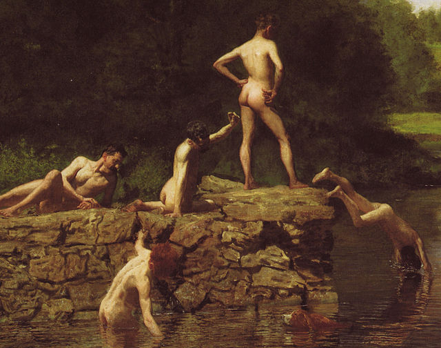 Detail of swimming thomas eakins
