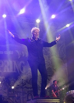 Dexter Holland - Holland performing with The Offspring in 2017