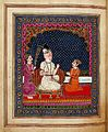 Dhritarashtra hearing narratives on Kurukshetra war from Sanjaya Wellcome L0030649.jpg
