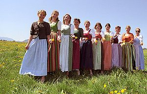 Dirndl - Different colour variations can depend on the origin of the woman wearing a dirndl.