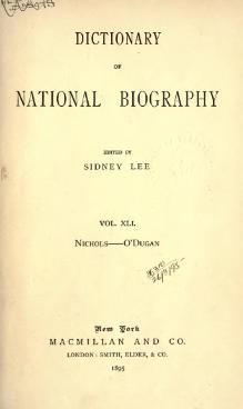 Dictionary of National Biography volume 41.djvu