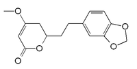 Chemical structure of dihydromethysticin