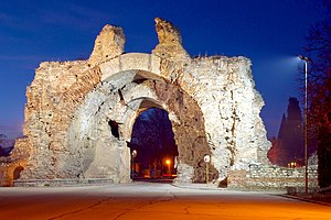 Spa - The spa town of Hisarya in Bulgaria. An ancient Roman city was built in the 1st century AD because of the mineral springs in the vicinity.