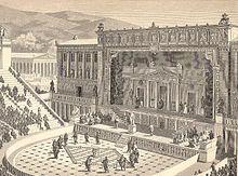 Escenografía del teatro romano de Atenas
