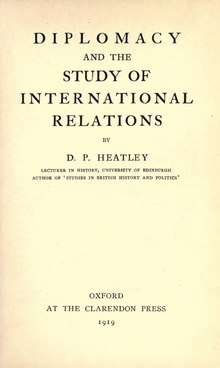 Diplomacy and the Study of International Relations (1919).djvu