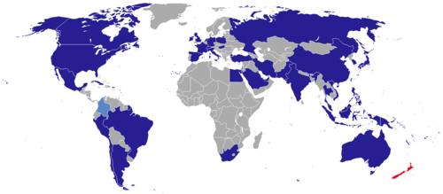 List of diplomatic missions in New Zealand