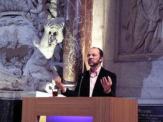 Paul Schnabel - Paul Schnabel during the manifestation of Een Land Een Samenleving in Amsterdam's Nieuwe Kerk in 2006