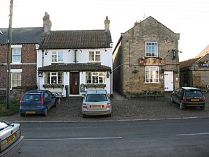Dishforth - Dishforths two pubs; the Black Swan (left) and the Crown Inn (right)
