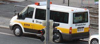Dispatcher - A German dispatcher at work with an accident involving a tram.