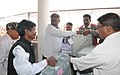 Distribution of the Electronic Voting Machines (EVM`s) and other polling materials to the Polling Officers, at a centre in Rajnand Gaon district, for the Assembly Election in Chhattisgarh on November 10, 2013.jpg