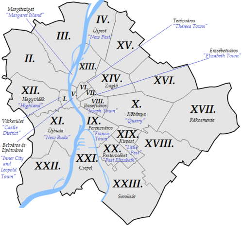 Districts of Budapest with their names.png