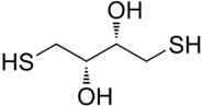 Chemical structure of DTT.