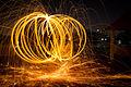 Diwali 2012 Bangalore Steel wool vortex (8190379187).jpg
