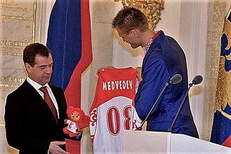 Andrei Kirilenko - Kirilenko with Russian President Dmitry Medvedev in 2008