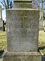 Dobbertin Klosterfriedhof Grabstein Margarethe von Behr Reihe 4 Platz 10 2012-03-23 234.JPG