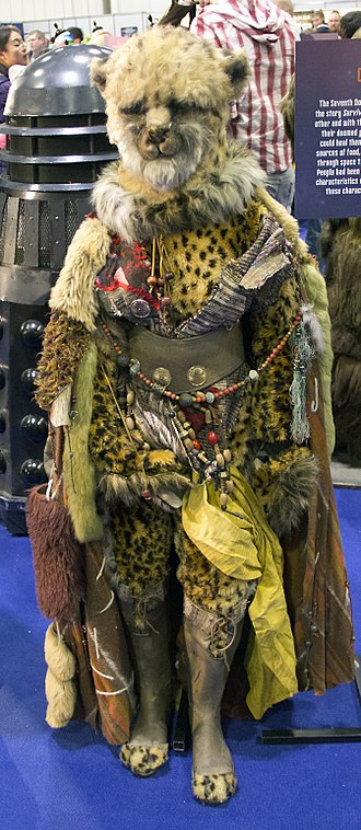 Survival (Doctor Who) - A Cheetah Person, shown at a 50th Anniversary event.
