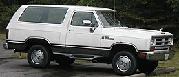 Un Dodge Ramcharger seconda serie (1981–1993)