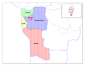 Donga Department - Communes of Donga
