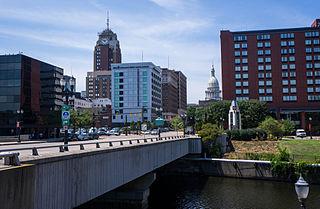 Downtown Lansing Central Business District in Michigan, United States