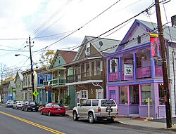Restored period buildings along Main Street (NY 213)