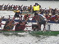 Dragon boats crossing finish line at 2008 SFIDBF 08.JPG