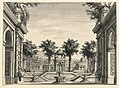 """Drawing, Stage Design, Indian Palace Garden for the Ballet """"Genghis Khan"""" by Luigi Henry, 1828 (CH 18359137).jpg"""
