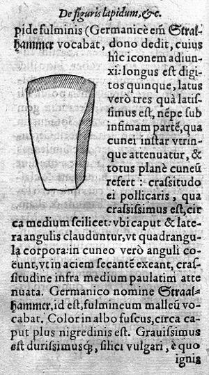 Drawing of stone axe head. Wellcome M0016327.jpg