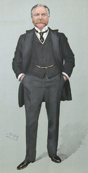 Edward Ponsonby, 8th Earl of Bessborough - The then Viscount Duncannon, by Leslie Ward, 1904