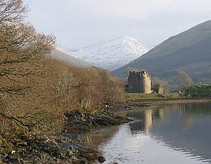 Clan Macnaghten - Dunderave Castle at Loch Fyne, historic seat of the chiefs of Clan Macnaghten.