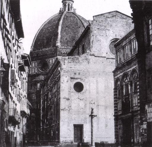 Duomo di firenze nel 1860 ca, facciata