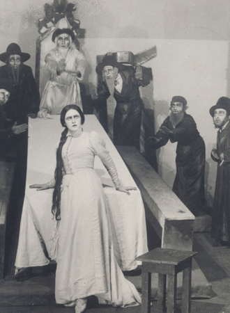 The Dybbuk - Hanna Rovina as Leah in the Hebrew-language premiere of The Dybbuk. Habima Theater, Moscow, 31 January 1922.