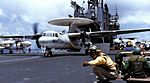 E-2B Hawkeye of VAW-115 is launched from USS Midway (CV-41), circa in 1982.jpg