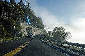 European route E134 - Road E134 to Notodden city, at Tuven