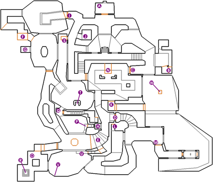 Map recreation of E1M7: Computer Station from the action shooter Doom E1M7dots.png