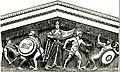 EB1911 Greek Art - Restoration of East Pediment, Aegina.jpg