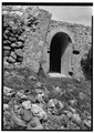 ENTRANCE TO VAULT BELOW SOUTHEAST CORNER OF MILL PLATFORM, VIEWED FROM SOUTHWEST - Estate Annaberg, Annaberg, St. John, VI HABS VI,2-MABA,1-14.tif