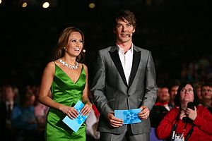 Eurovision Song Contest 2007 - The hosts Jaana Pelkonen and Mikko Leppilampi