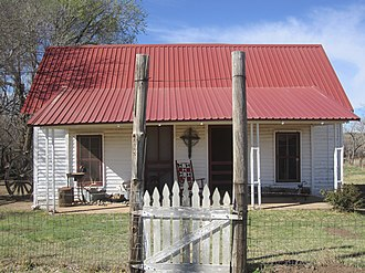 Motley County, Texas - Early Matador Ranch main building in Motley County