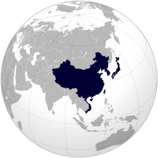 Grouping of countries and regions that were historically influenced by the culture of China
